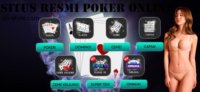 Situs Resmi Poker Online Pada Tahun 2018